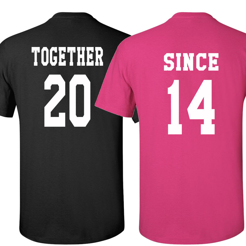 couple tshirts together since love shirt valentine's day