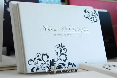 Hard Cover Wedding Invitations Sydney designed by Ooh Aah