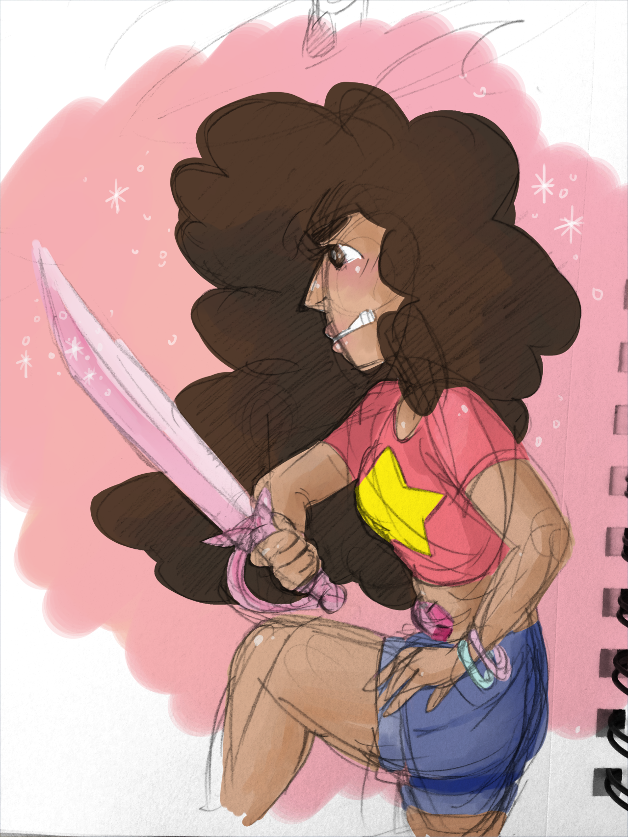 sorry this is terribly messy lmao but i just figured out how to extract lines and i was really excited! also i love stevonnie!!!
