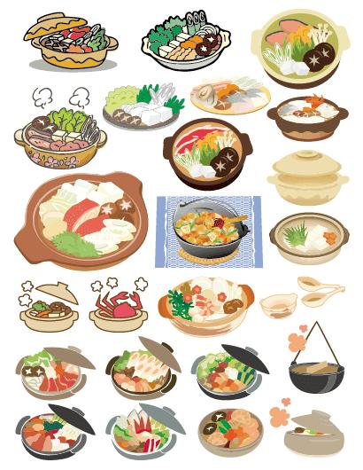 お鍋料理すき焼き野菜のイラストaieps ベクタークラブ