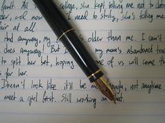 Writing samples: Parker 75