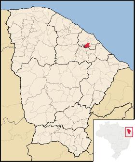 Localização de Guaiuba