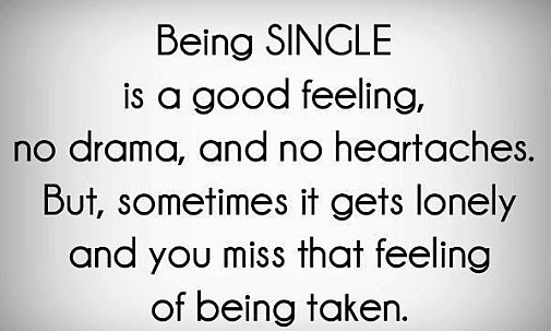 About Being Single Quote Picture
