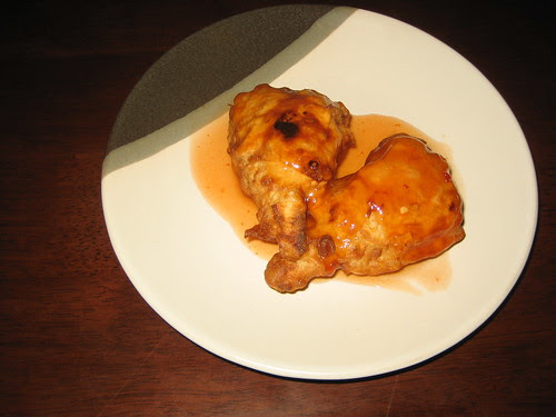 """chicken"" drumsticks at chat for tea"