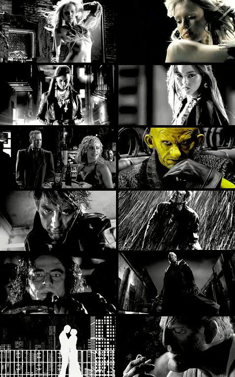 SIN CITY trailer screenshots.