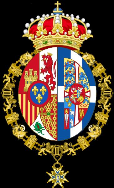 Archivo: Escudo de armas personal de Sofía, Reina de Spain.svg
