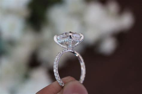 Show me your Moissanite rings.   Weddingbee Photo Gallery