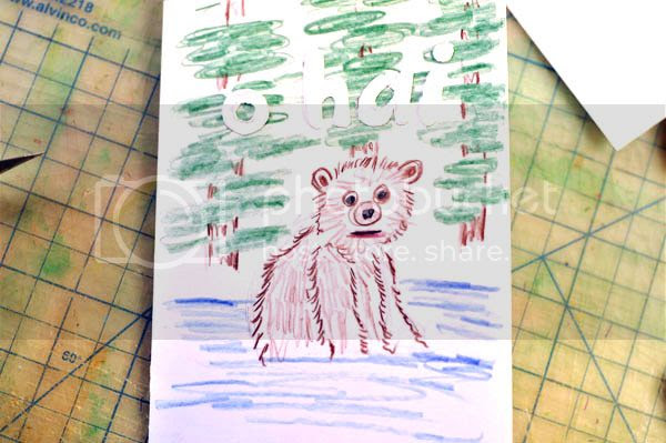 bear popup card cover