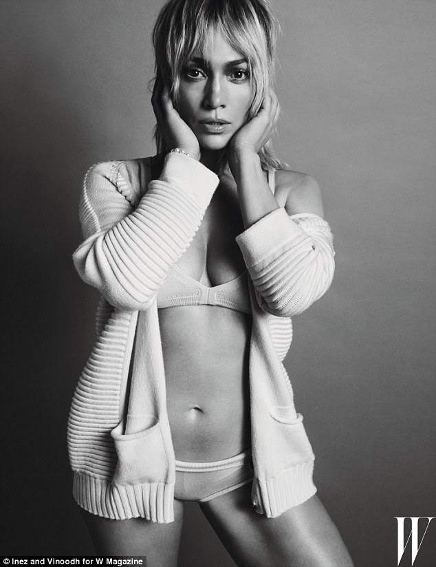 Heating things up: Jennifer Lopez sizzles in the new issue of W Magazine, in which she discussed the breakdown of her marriage to Marc Anthony