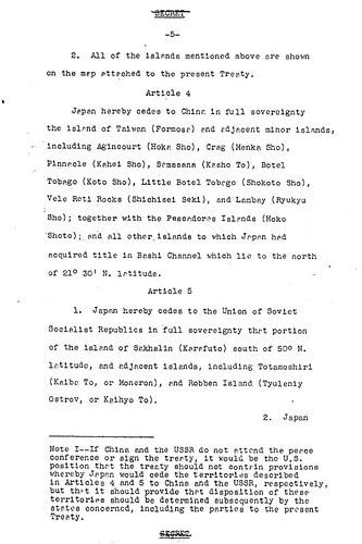 1949 December 29th; 6th Amendment of the Treaty Draft_DoSDraft49.12.29p5