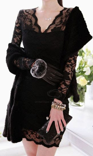 Black lacedress