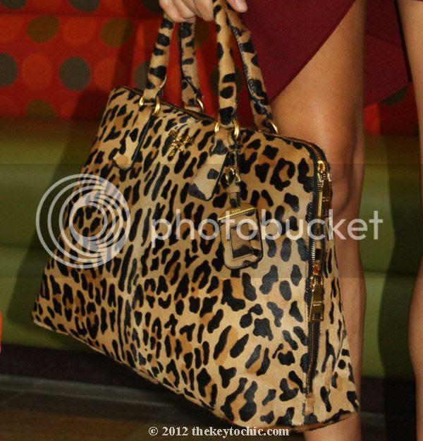 Prada animal print handbag, leopard print bag