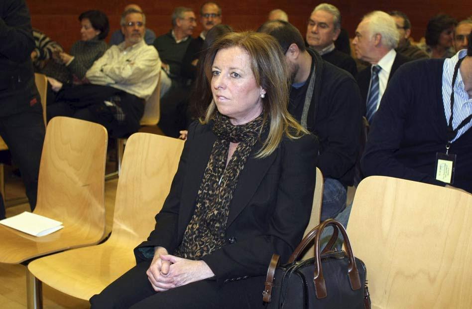María Dolores Amorós en el juzgado de lo Social número 4 de Alicante.