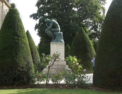 Paris Skulpturengarten Rodin Der Denker Foto Brandt