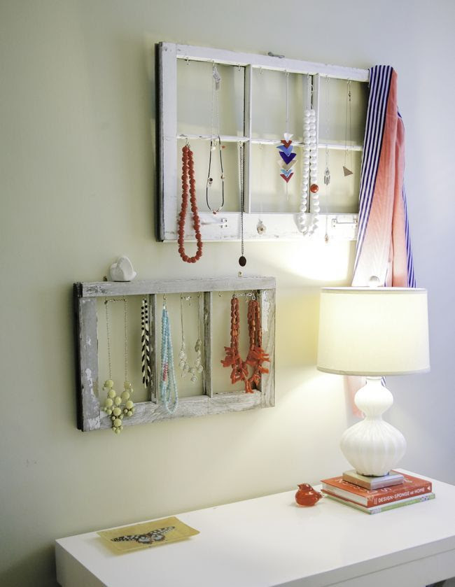 DIY Jewelry Display from Old Windows - Henry Happened