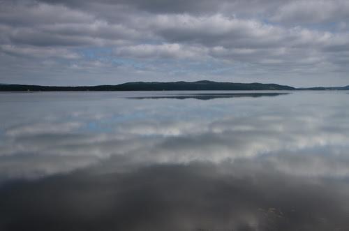 mirrored clouds, Terra Nova National Park, Newfoundland