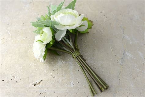 White Flowers & Succulent Bouquet