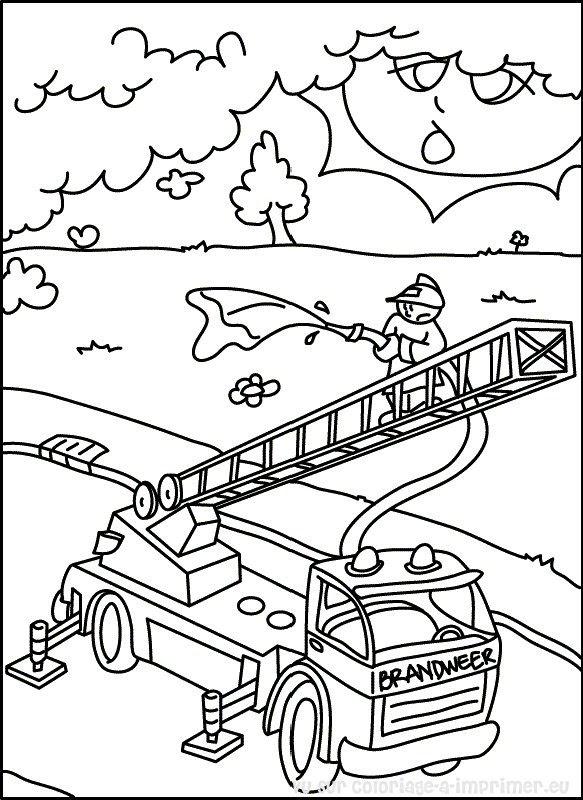 Sélection De Dessins De Coloriage Pompier à Imprimer Sur Laguerche