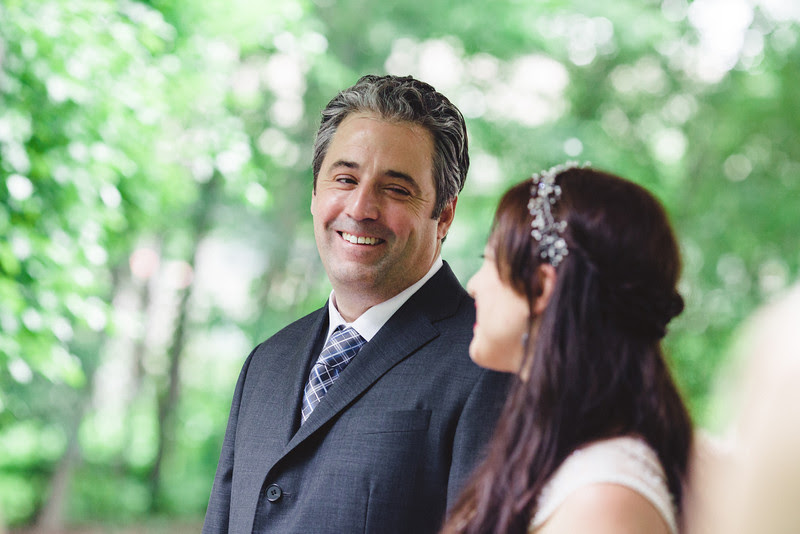 A small summer garden wedding ceremony in a backyard in Rockford, IL photographed by Mindy Joy Photography which was followed by a wedding reception at Rockford Art Museum.