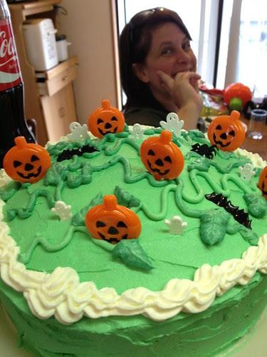 birthday cake and christine
