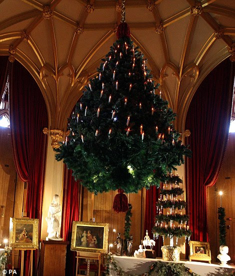 Da rainha da árvore de Natal, o Castelo de Windsor