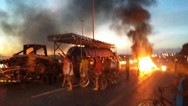 Moradores de Luziânia protestam contra a corrupção e por mais transporte e segurança no entorno
