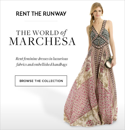 Rent the Runway introduces The World of Marchesa. Choose from feminine dresses in luxurious fabrics