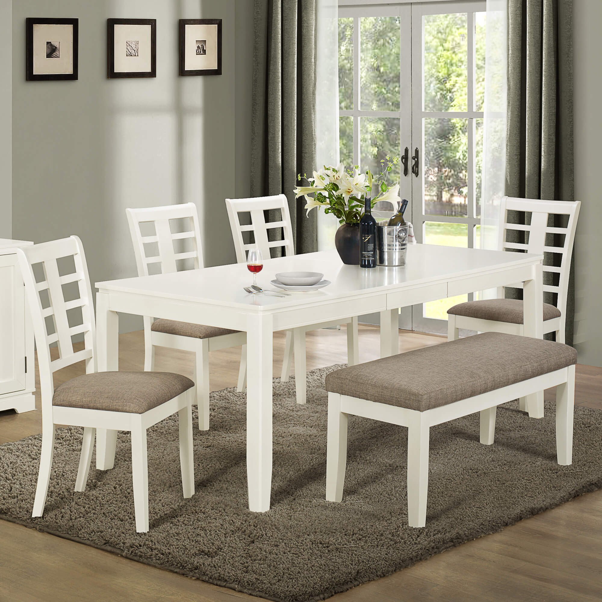 26 Big \u0026 Small Dining Room Sets with Bench Seating