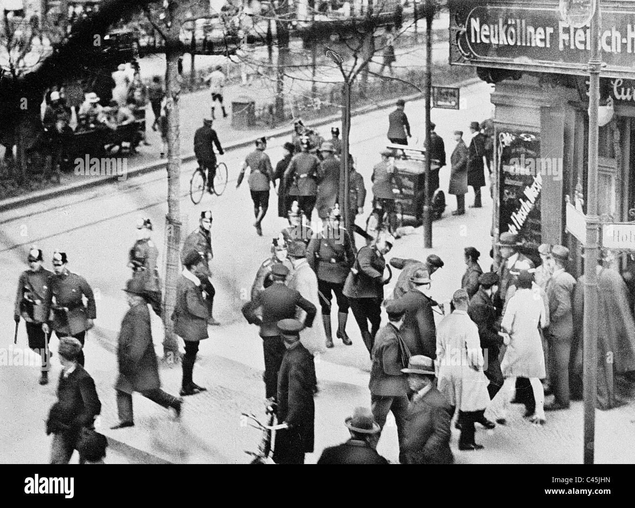 Street battles between the KPD and SA, 1929 Stock Photo