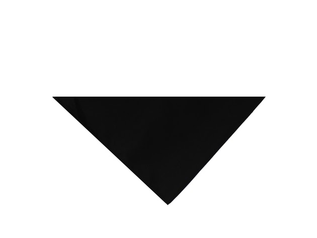 Mechaly Triangle Plain Cotton Bandanas - 7 Pack - Kerchiefs and Head Scarf Accessories - Black for $20