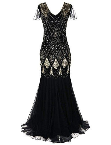 women  flapper cocktail maxi long gatsby evening