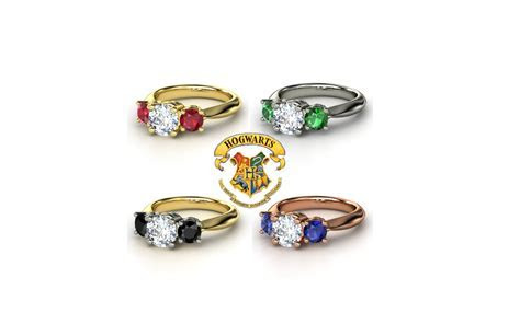 Harry Potter Engagement Rings. I would even wear these in