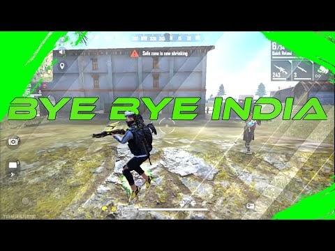 Free Fire Gameplay - Bye Bye Indian  - INSANE KILLER