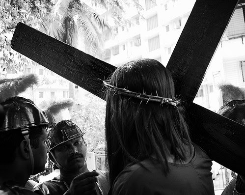 Jesus Walks The Streets Of Mumbai On Good Friday On The Way To The Cross by firoze shakir photographerno1