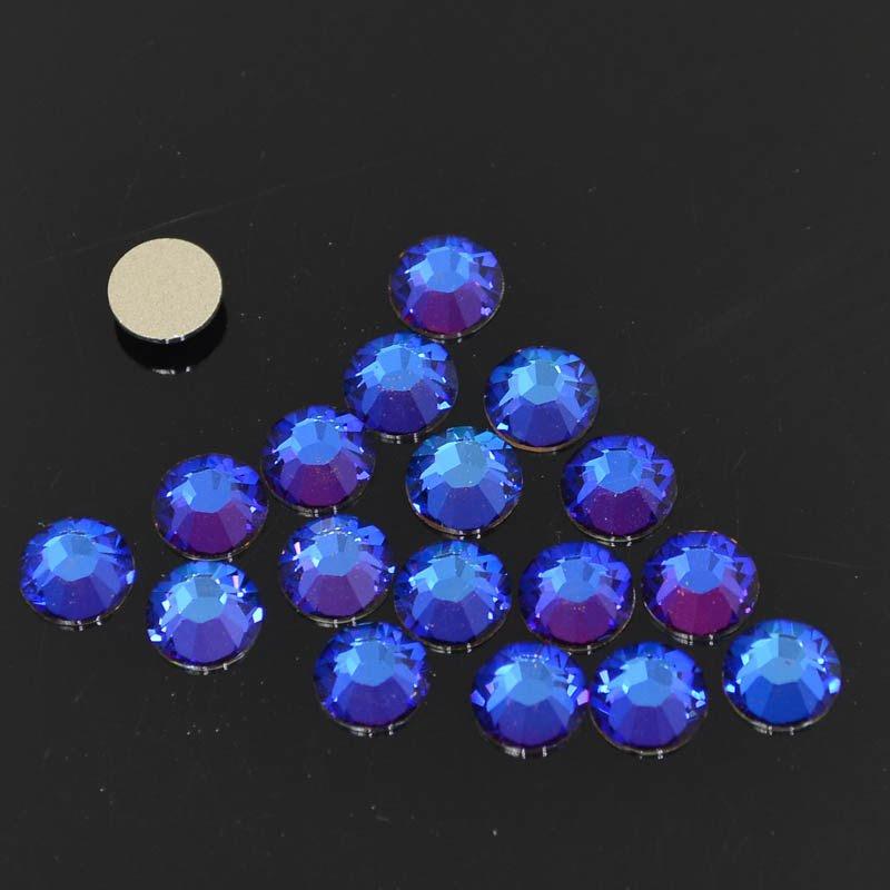 s41276 Swarovski Elements Rhinestones - SS 30 - Xilion Rose (2028) - Crystal Meridian Blue (72)
