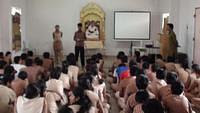Group presentation during Workshop on how to face exams at VK Mysore