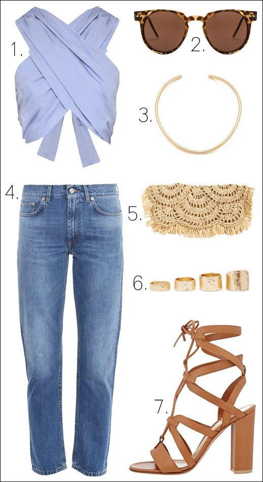 Le Fashion Blog Outfit Collage Spring Summer Style Blue Crop Top Round Sunglasses Choker Jeans Woven Clutch Heeled Sandals photo Le-Fashion-Blog-Outfit-Collage-Spring-Summer-Style-Blue-Crop-Top-Round-Sunglasses-Choker-Jeans-Woven-Clutch-Heeled-Sandals.jpg