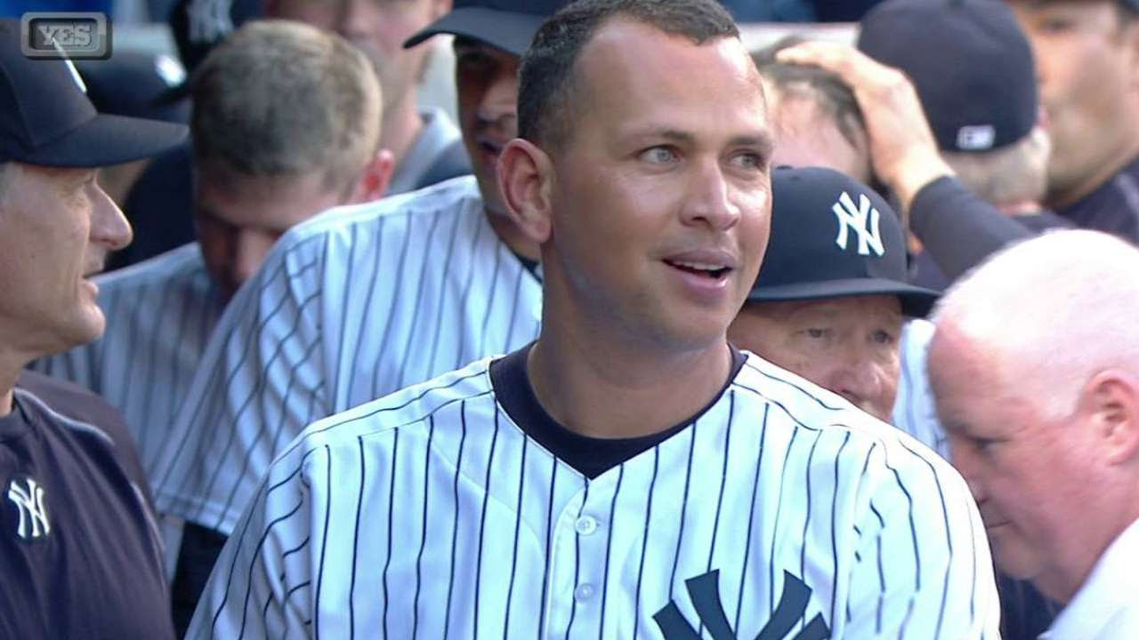 Yankees rendirán homenaje a Alex Rodríguez por sus 3,000 hits
