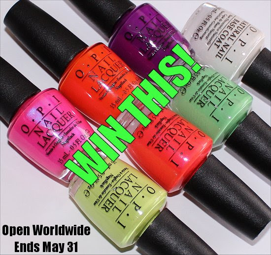 OPI Neon Collection Giveaway OPI Put a Coat On Base Coat