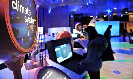 Installations on climate change at the science museum, London