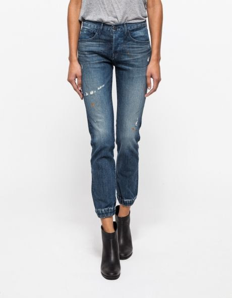 3x1 Straight Leg with Elastic Cuff Jeans