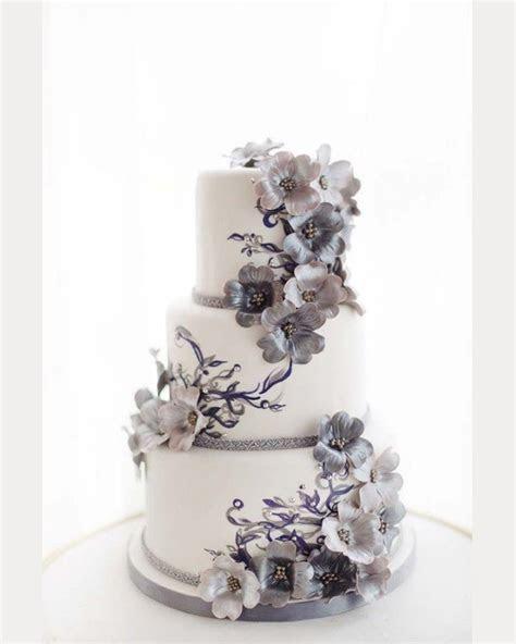 Glorious Gray Wedding Cakes for 2015   Mon Cheri Bridals