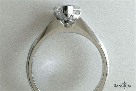 Heart Cut Diamond Soliraire Engagement Ring Knife Edge