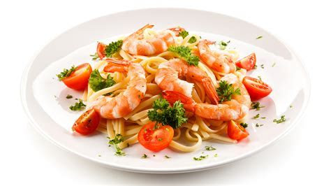 Wallpapers Pasta Tomatoes Caridea Food Plate White 2560x1440