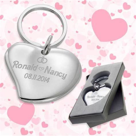 Cuore Heart Shaped Wedding Favors Keychains   Wedding