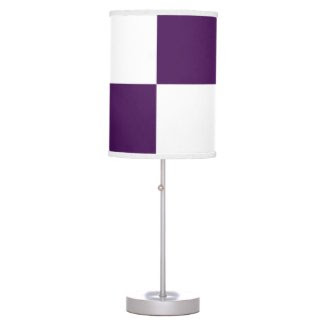 Royal Purple and White Rectangles Lamp