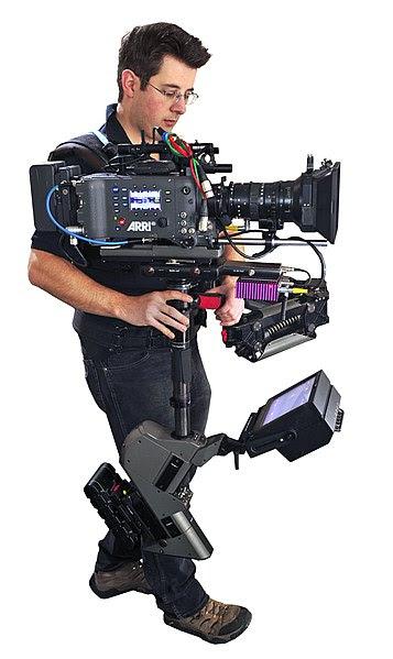 File:Steadicam Operator John Fry with Master Steadicam & Arri Alexa camera.jpg