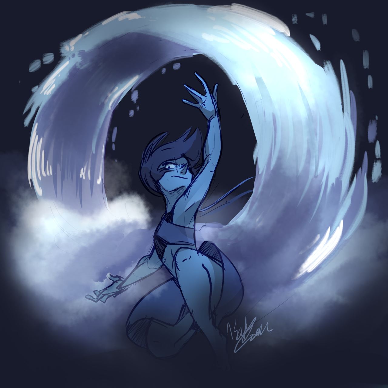 An unpolished Lapis doodle just for y'all.