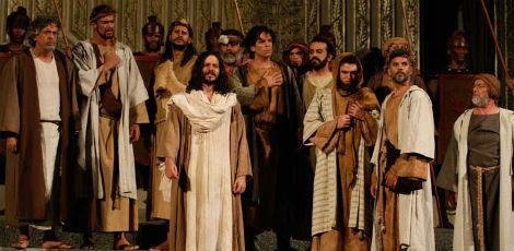 Jesus é interpretado mais uma vez pelo pernambucano José Barbosa, que há três anos vive o papel. / Foto: Dayvison Nunes/JC Imagem