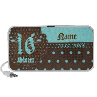 Sweet Sixteen Gifted Doodle Speakers -Customize doodle